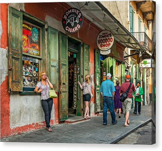 Rev Zombies Canvas Print - French Quarter - People Watching by Steve Harrington
