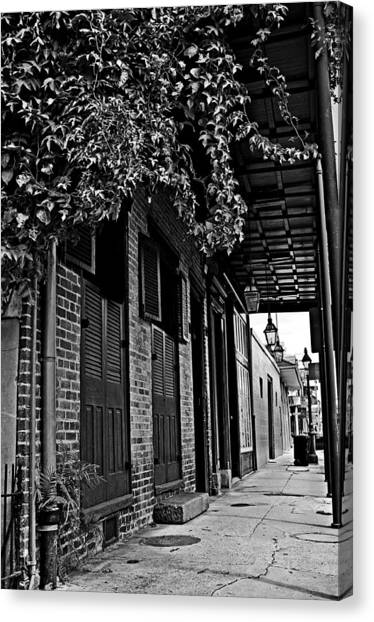 French Quarter Sidewalk Canvas Print