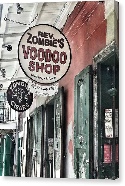 French Quarter Voodoo Shop Canvas Print by Mike Barch