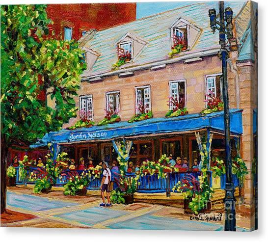 French Restaurant Jardin Nelson Paris Style Bistro Place Jacques Cartier Terrace Garden C Spandau   Canvas Print