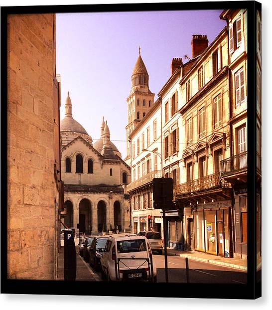 European Canvas Print - French Street by Candace Fowler