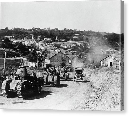 French Tanks Canvas Print by Library Of Congress/science Photo Library