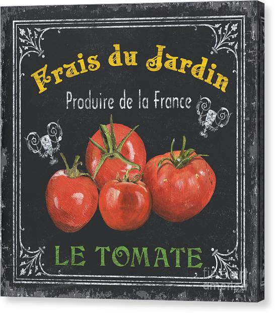 Tomato Canvas Print - French Vegetables 1 by Debbie DeWitt