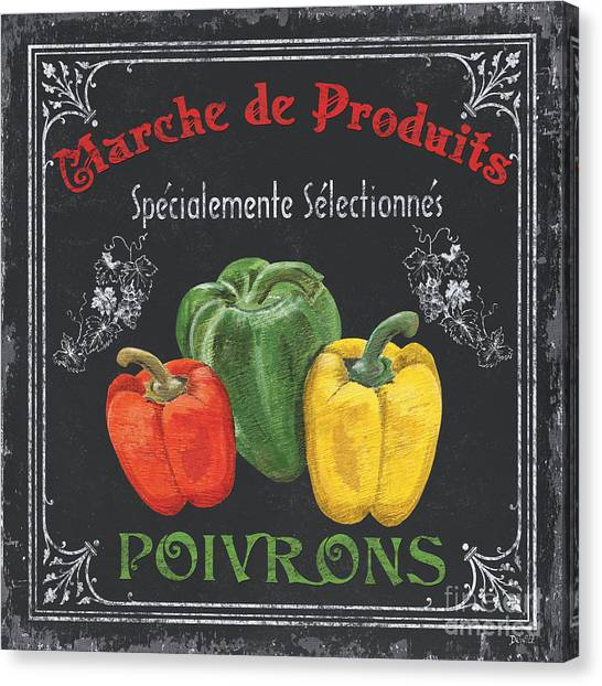 Market Canvas Print - French Vegetables 3 by Debbie DeWitt