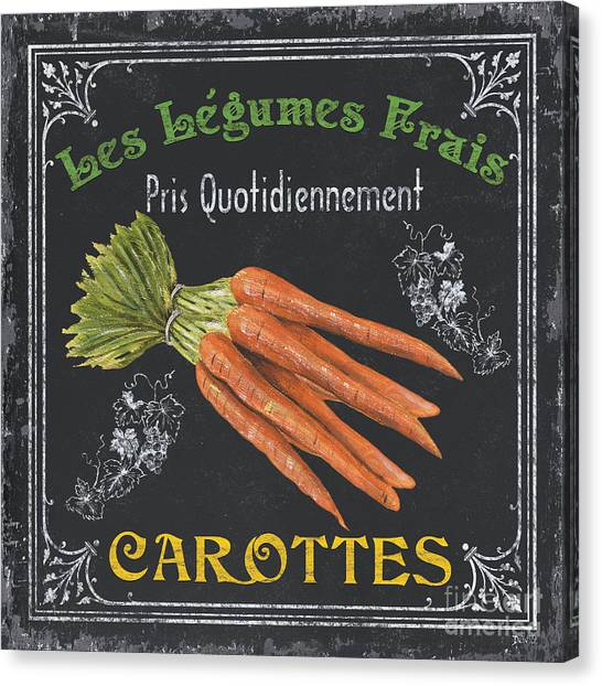 Market Canvas Print - French Vegetables 4 by Debbie DeWitt