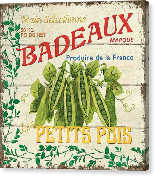 Organic Canvas Print - French Veggie Sign 1 by Debbie DeWitt