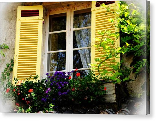 French Window Dressing Canvas Print by Jacqueline M Lewis