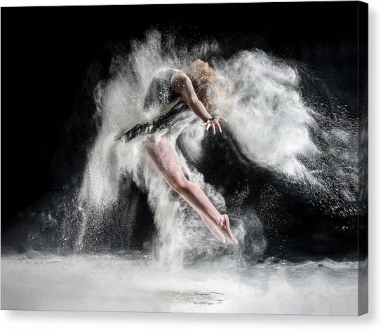 Acrobatic Canvas Print - Frenzy by Pauline Pentony Ba