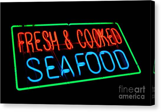 Fish Market Canvas Print - Fresh And Cooked Seafood by Olivier Le Queinec