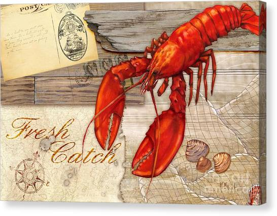 Lobster Canvas Print - Fresh Catch Lobster by Paul Brent