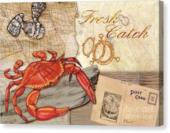 Lobster Canvas Print - Fresh Catch Red Crab by Paul Brent