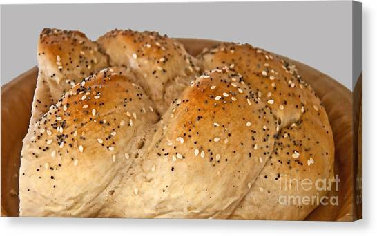 Fresh Challah Bread Art Prints Canvas Print