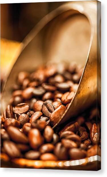 Coffee Beans Canvas Print - Fresh Coffee by Aaron Aldrich