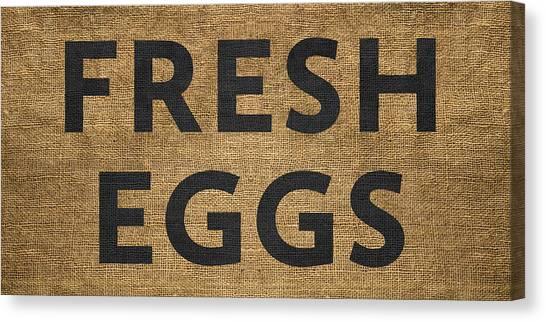 Canvas Print featuring the digital art Fresh Eggs by Nancy Ingersoll