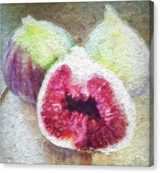 Vegetarian Canvas Print - Fresh Figs by Linda Woods