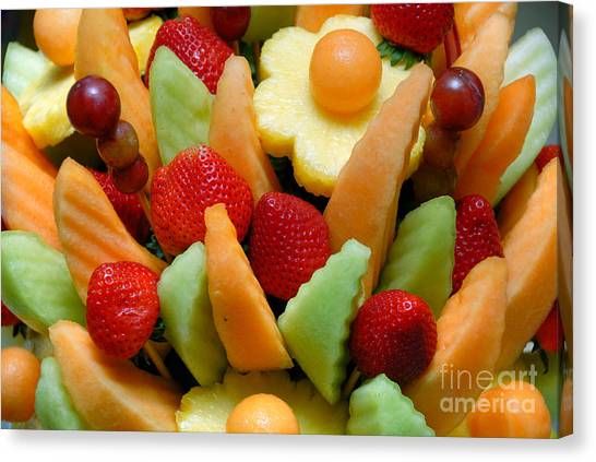 Honeydews Canvas Print - Fresh Fruit Arrangement by Amy Cicconi
