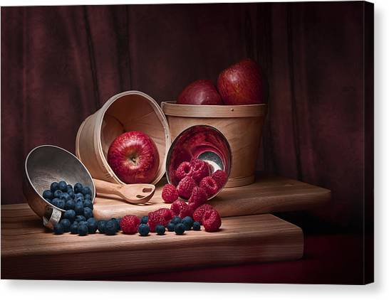 Raspberry Canvas Print - Fresh Fruits Still Life by Tom Mc Nemar