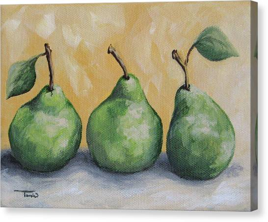 Fresh Green Pears Canvas Print