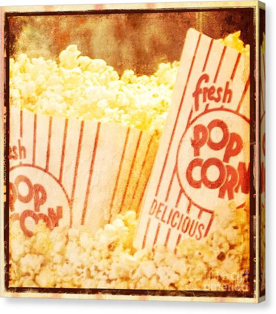 Fresh Hot Buttered Popcorn Canvas Print