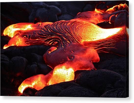 Fresh Lava Flow Canvas Print
