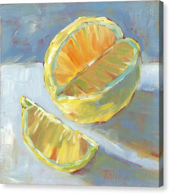 Fresh Lemons Canvas Print