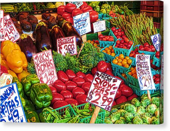 Fresh Market Vegetables Canvas Print