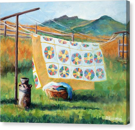 Colorado Rockies Canvas Print - Fresh by Mary Giacomini