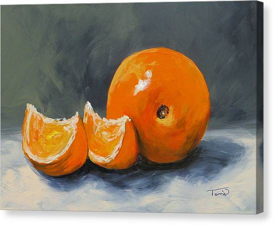 Fresh Orange IIi Canvas Print