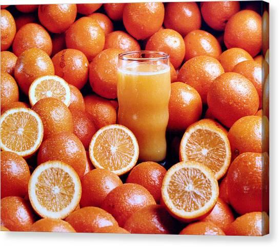 Fresh Orange Juice Canvas Print