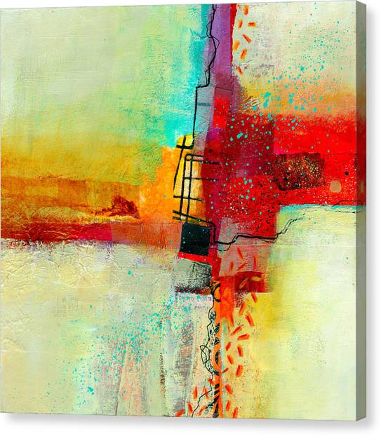 Collage Canvas Print - Fresh Paint #2 by Jane Davies