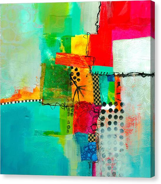 Collage Canvas Print - Fresh Paint #5 by Jane Davies