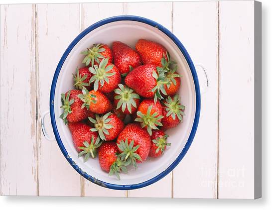 Fruit Canvas Print - Fresh Strawberries  by Viktor Pravdica