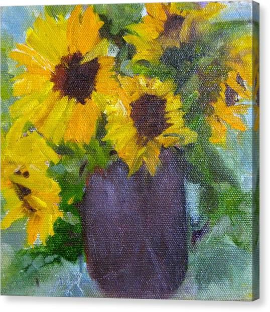 Fresh Sunflowers Canvas Print