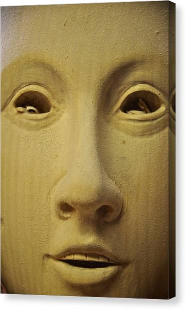 Freshly Carved Face Canvas Print