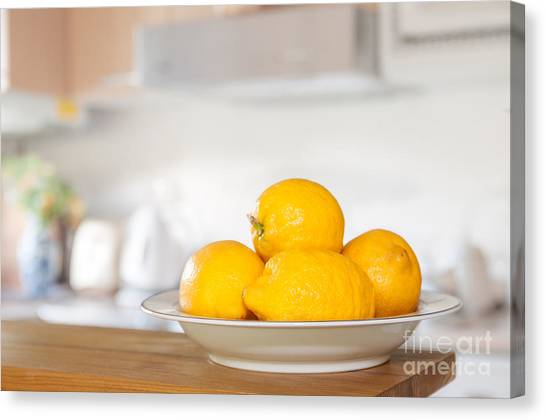 Lemons Canvas Print - Freshly Picked Lemons by Amanda Elwell
