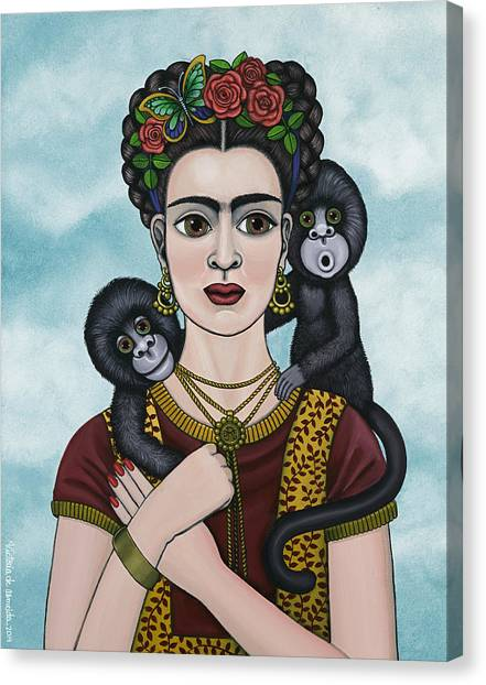 Frida In The Sky Canvas Print