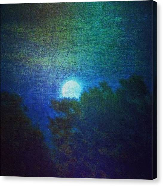Impressionism Canvas Print - Friday 6/13/14 Full Moon - The Honey by Paul Cutright