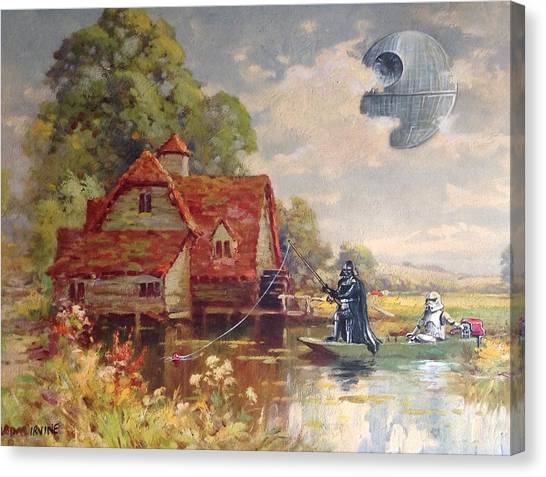 Stormtrooper Canvas Print - Friday Afternoon by David Irvine