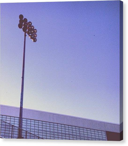 Sports Canvas Print - Friday Night Light by Christy Beckwith