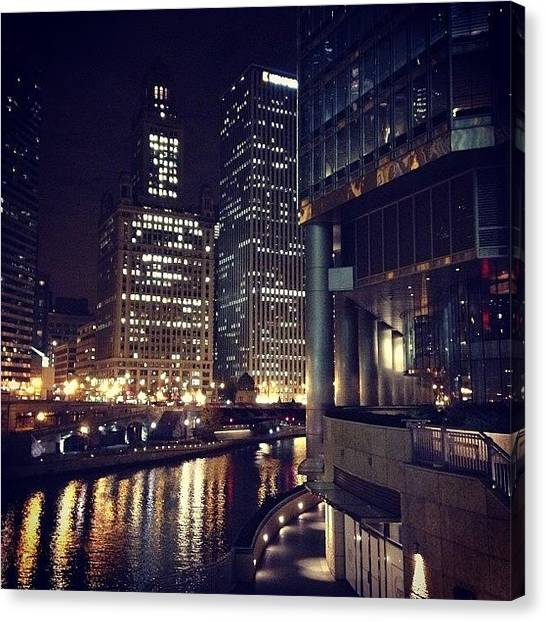 Sears Tower Canvas Print - Friday Night by Mike Maher