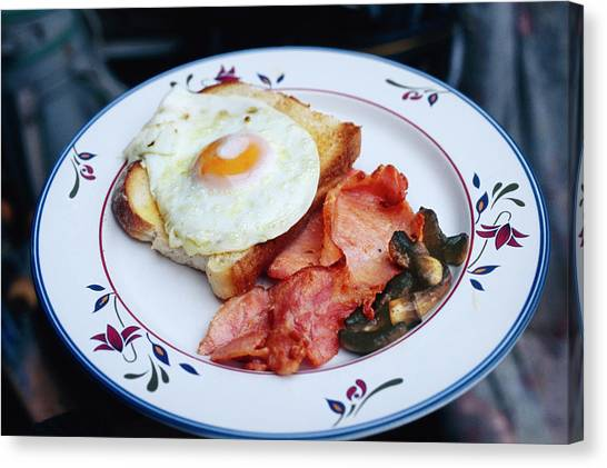 Bacon Canvas Print - Fried Breakfast by Peter Menzel/science Photo Library