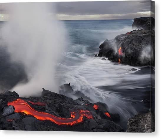 Lava Canvas Print - Fried Feet by Miles Morgan