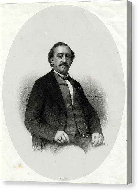 Friedrich Von Flotow  German Musician Canvas Print by Mary Evans Picture Library