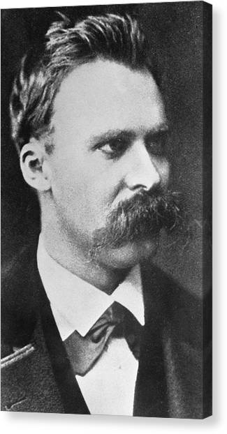 Professors Canvas Print - Friedrich Wilhelm Nietzsche by French Photographer