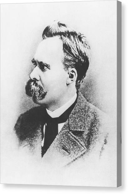 Academic Art Canvas Print - Friedrich Wilhelm Nietzsche In 1883 by German Photographer