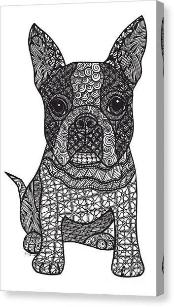 Friend - Boston Terrier Canvas Print