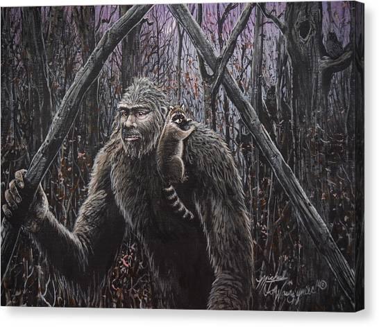 Friend Raccoon Canvas Print