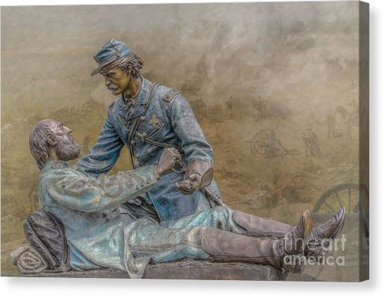 Army Of The Potomac Canvas Print - Friend To Friend Monument Gettysburg Version Two by Randy Steele