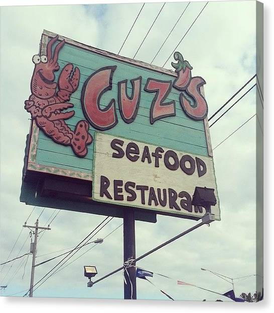 Gumbo Canvas Print - Friendly, Good Food. .. What Else Can by Blake Kirby