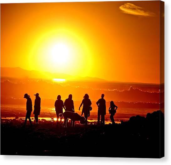 Friends At Sunset Canvas Print by Liz Vernand